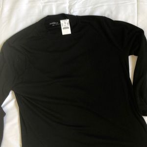 Jcrew NWT mercantile black knit ls mockneck